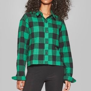 Tops - green flannel // wild fable